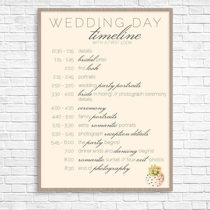 Wedding Day Timeline: Sample Wedding Day Timeline