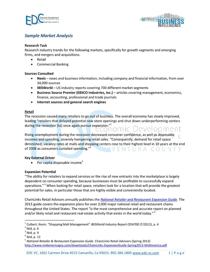 Market Analysis Examples Pdf Word Pages Examples with