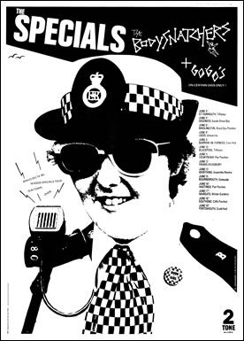 The Specials Seaside Tour Poster with The Bodysnatchers and The Go-Gos