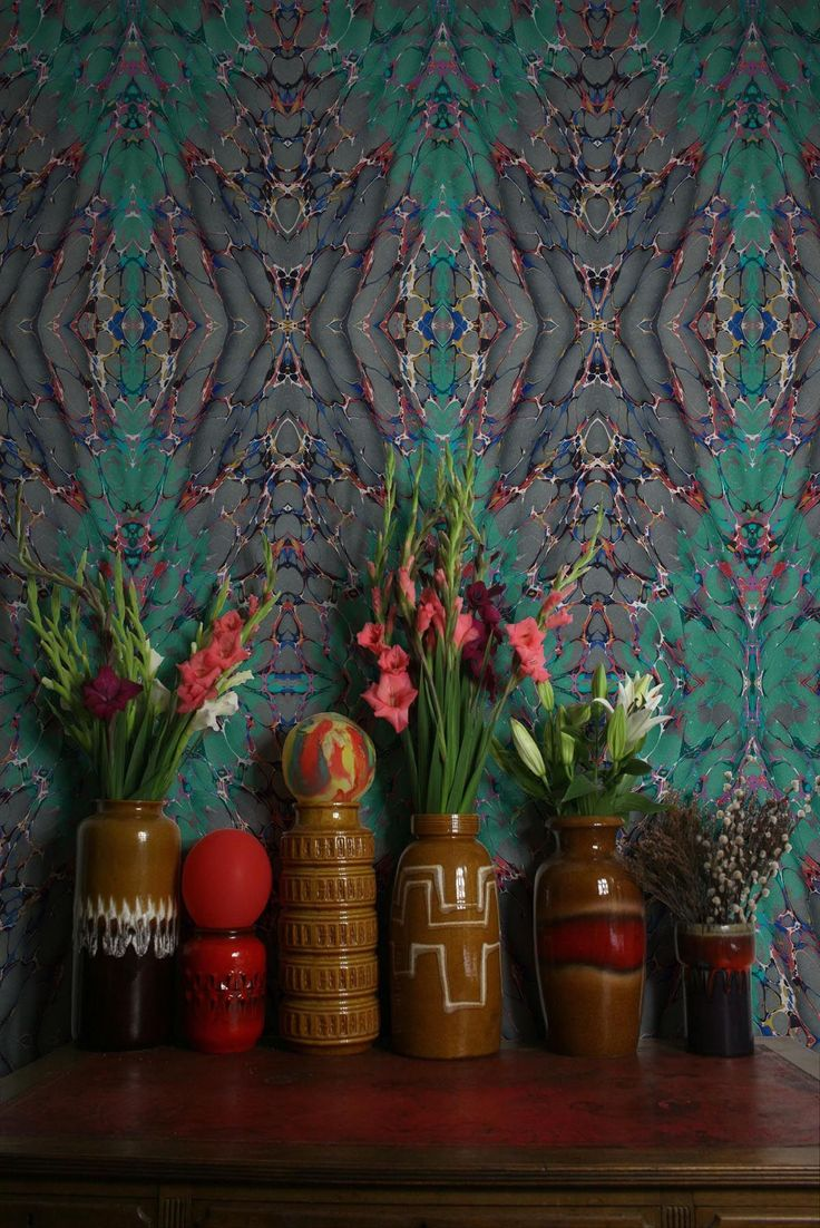 Timorous Beasties 'Ex Libris' wallpaper