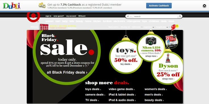 Target Deals With Cashback