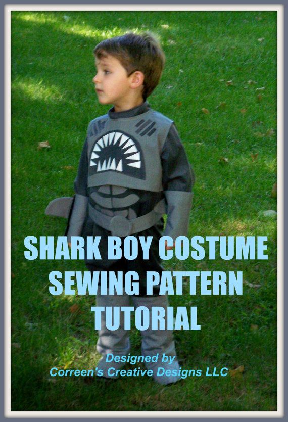 Shark Boy and Lava Girl Costume sewing patterns.  Step by step instructions on how you can make your own Lava Girl and Shark Boy costumes for children.  Halloween season is around the corner.