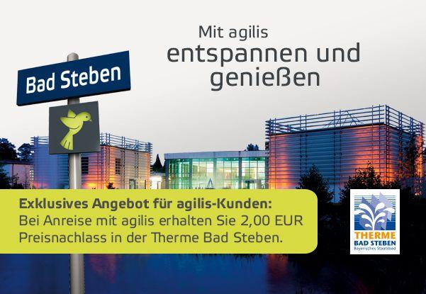 Noch bis Ende März: 2€ Rabatt in der Therme Bad Steben für agilis-Fahrgäste
