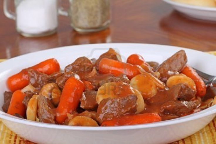 Traditional English Beef Stew Recipe  Made this tonight. Really good, but add flour to it half way through to thicken up the gravy.