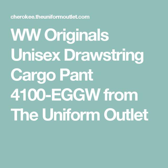 WW Originals Unisex Drawstring Cargo Pant 4100-EGGW from The Uniform Outlet