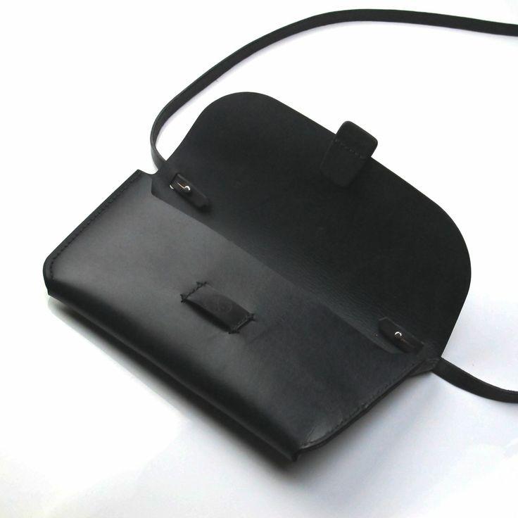 Onyx - Leather Clutch Bag