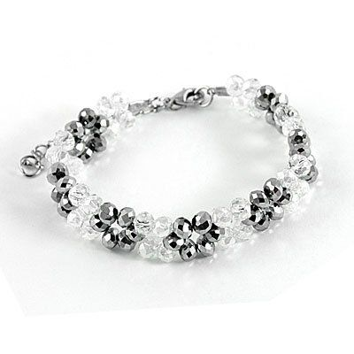 "Rosallini Faux Faceted Crystal Plastic Bracelet Gray Clear for Women Rosallini. $3.71. Main Color : Gray, Clear;Bracelet Girth : 17cm/ 6.7"". Package Content : 1 x Bracelet. Width : 1.4cm/ 0.5"";Bead Diameter (Each) : 0.6cm/ 0.2"". Product Name : Bracelet;Material : Plastic. Net Weight : 16g"