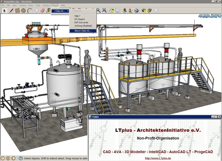 zrzut ekranu LTplus sketchUP PlugIN