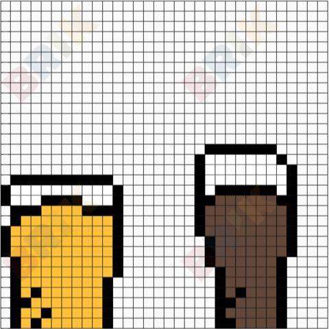 International Beer Day Pixel Art