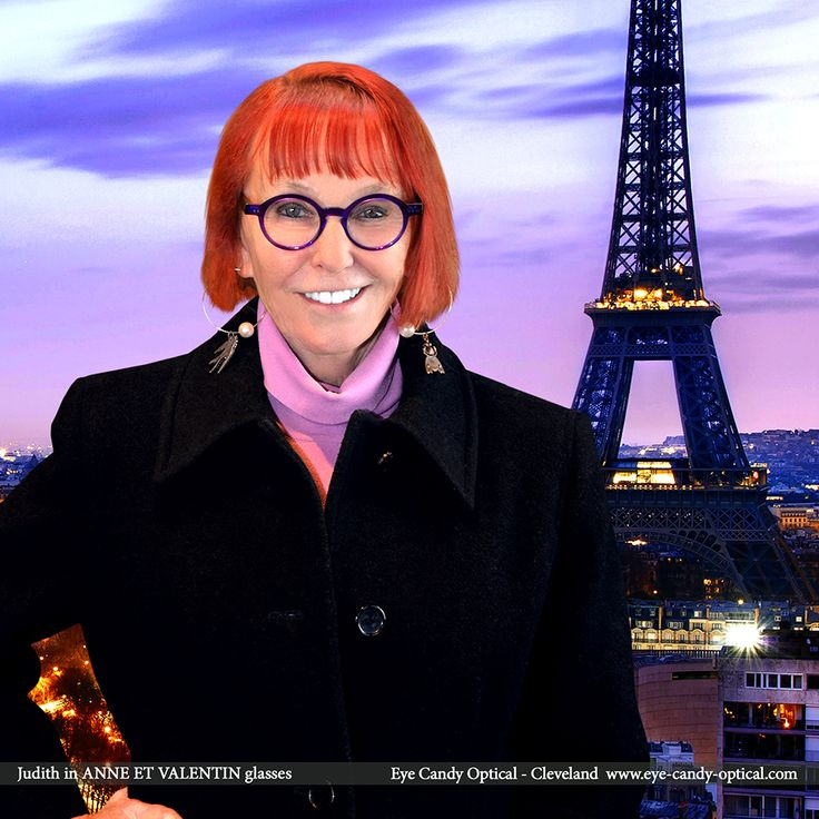 Judith looks fabulous by the Eiffel tower in Paris wearing her designer glasses by Anne et Valentin. Eye Candy - Loves the finest French Eyewear Fashion and brings it home to Cleveland! Eye Candy Optical Cleveland - The Best Glasses Store! (440) 250-9191 - Book an Eye Exam Online or Over the Phone www.eye-candy-optical.com