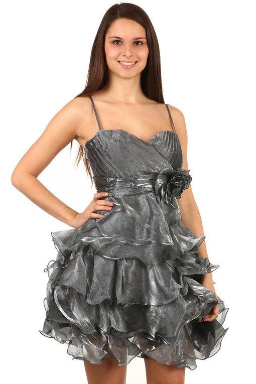 Večerní nadýchané volánkové šaty na ples  72321cda8a