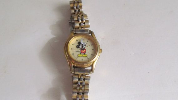 Vintage Mickey Mouse Watch Mickey Wrist Watch by ReVintageLannie