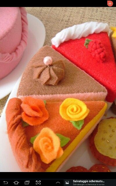 Felted cakes