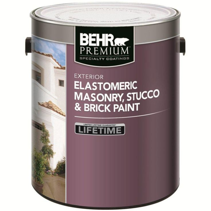 ELASTOMERIC Masonry, Stucco & Brick Paint - White, 3.67L