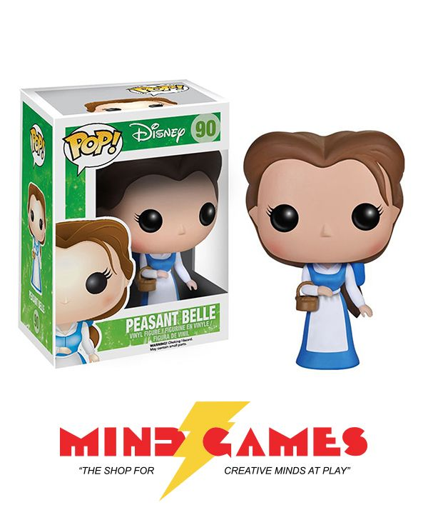 The POP Disney Peasant Belle Vinyl Figure depicts Belle in her iconic white and blue outfit that she wears for most of the film. Kind, smart, selfless, and patient, Belle is great role model for everyone, royalty or otherwise. This French fairy tale is a magical love story that had enchanted the world for years.