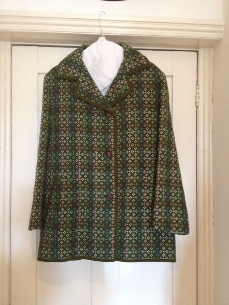 Vintage Welsh Tapestry Wool Jacket Coat Ebay Welsh