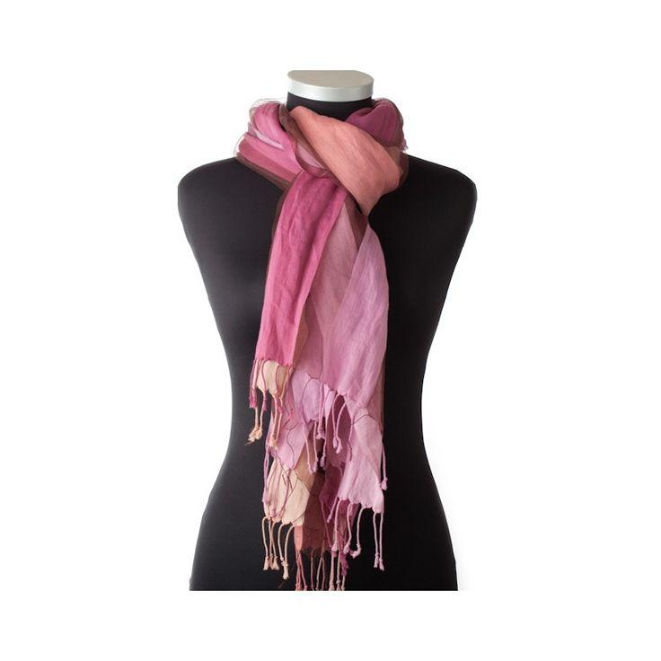 Lundorf Colorita scarf 60 % silk / 40 % cotton 200x70 cm.