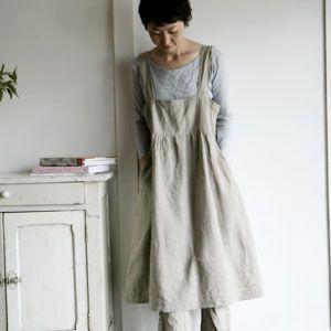 linen apron dress!