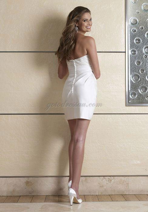 applique column short fashion crystals taffeta wedding dress weddinf dress short simple