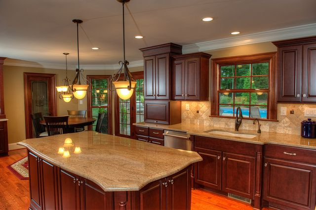 Walnut Cove Residence | Dark wood cabinets, Dark wood and