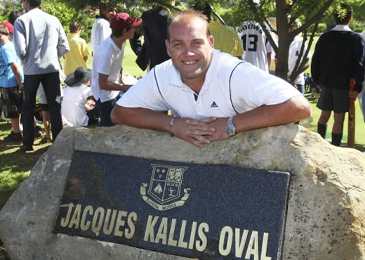 Old Boy Jacques Kallis at the renaming of the 1st XI Cricket Oval at Wynberg Boys' High School
