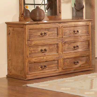 The warm, medium wood tones of Capella provide just the right touch of rustic color to the bedroom. An easily adaptable look, Capella is the ideal choice for an understated Southwestern influence in your decor. Simple, unadorned iron hardware provides a straightforward and authentic accent to the drawers, while the bed catches the eye with a subtly arched panel and solid posts featuring restrained finials mounted atop.
