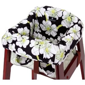 balboa baby high chair cover in lime poppyfor those restaurant high chairs