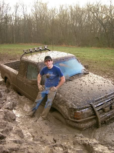 A ford truck and a little mudd is all i need for a perfect night of fun!