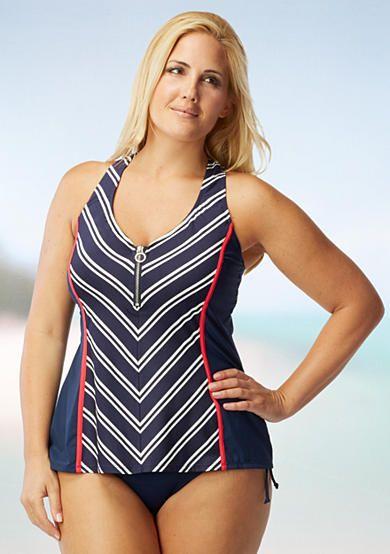 Beach House Woman Plus Size Cap Cod Racerback Tankini