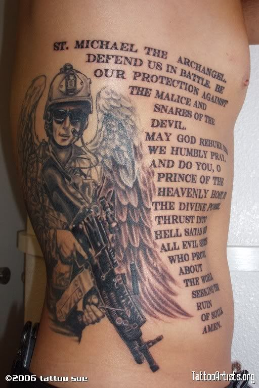St Michael Tattoo - Patron Saint of Police Officers