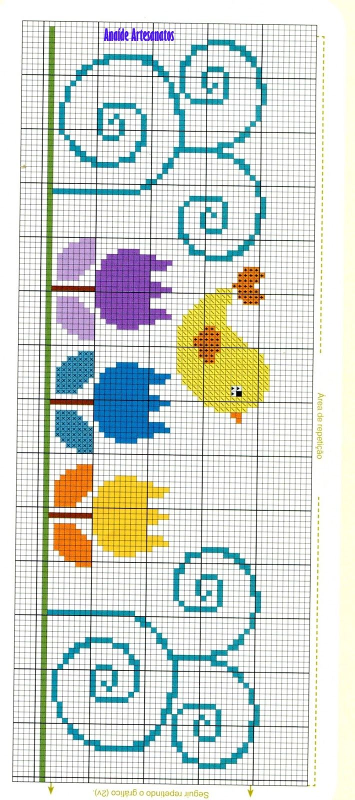 Anaide Ponto Cruz: Gráficos de ponto cruz para toalhas.