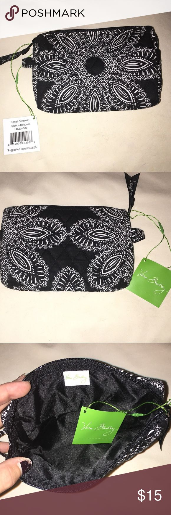 Travel cosmetic bag Very pretty pattern and it is brand new!! Vera Bradley Bags Cosmetic Bags & Cases