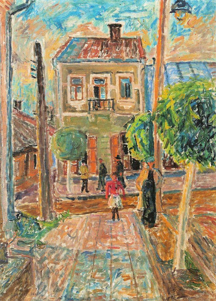 """Józef Czapski """"Widok miejski"""", 1938"""
