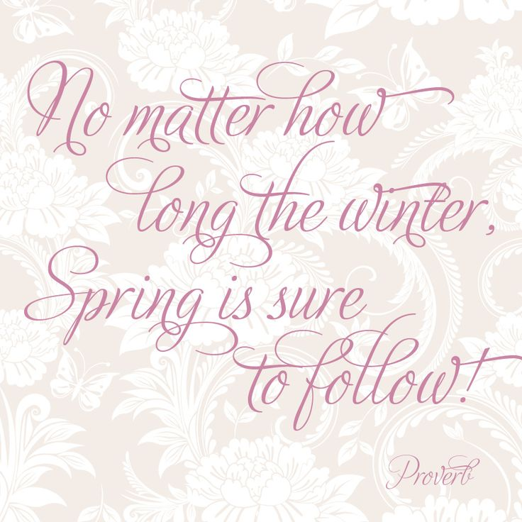 Spring will be here....the sooner the better! Please?