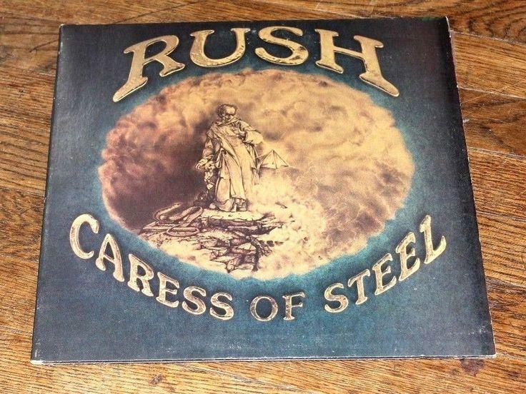 RUSH Caress Of Steel 1975 NEAR MINT Vinyl LP GF Comes with Bonus illustrated Bio