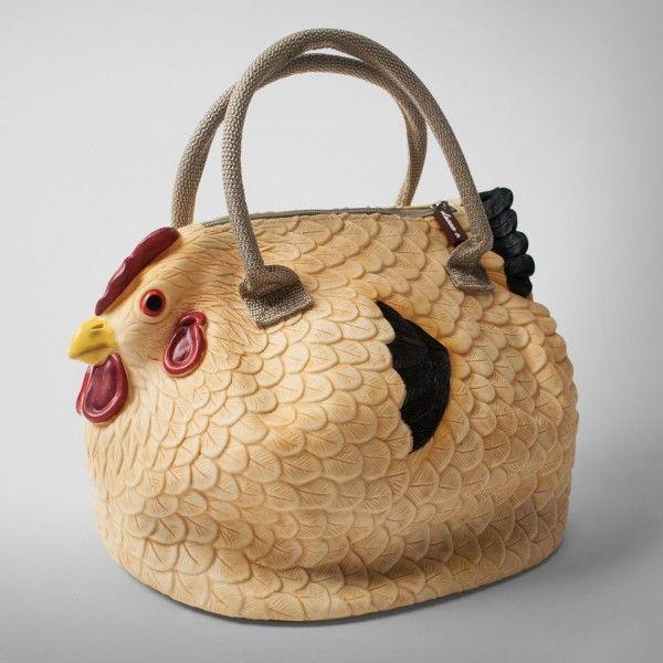 Hönshandväska och kycklinghandväska för dig som gillar höns och fjäderfä.
