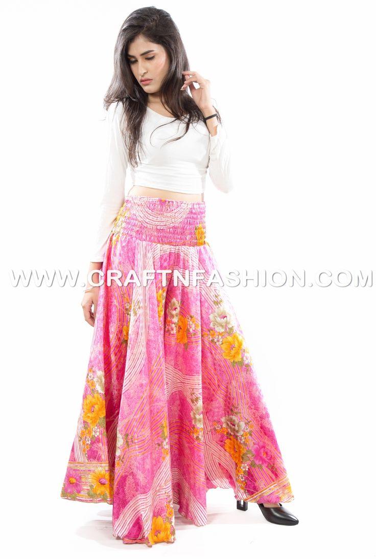 Silk Saree Customized Umbrella Trouser Pant