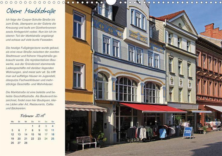 """Städte- und Regionalkalender """"Rudolstadt – mein Spaziergang durch den historische Stadtkern"""", Kalenderblatt Februar: Obere Marktstraße"""
