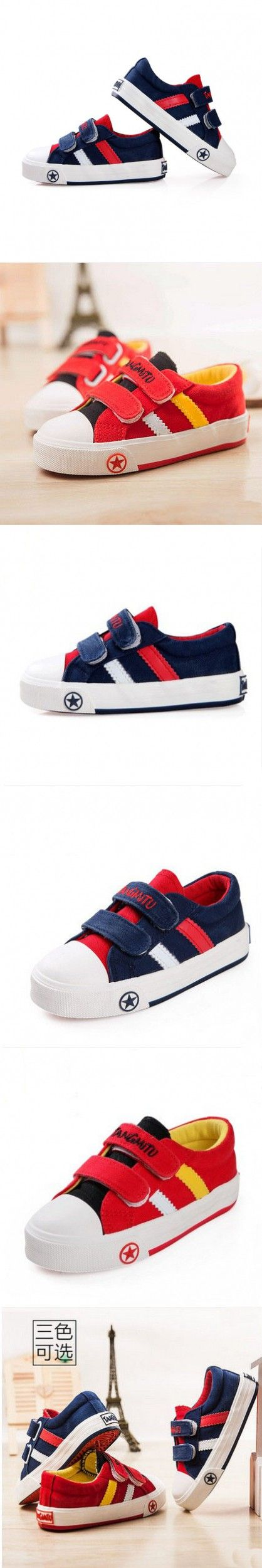 Fashion Style Brand Children Sneakers Baby Kids Casual Sport Canvas Shoes Boys Girls Runing Shoes Colour Blue And Red