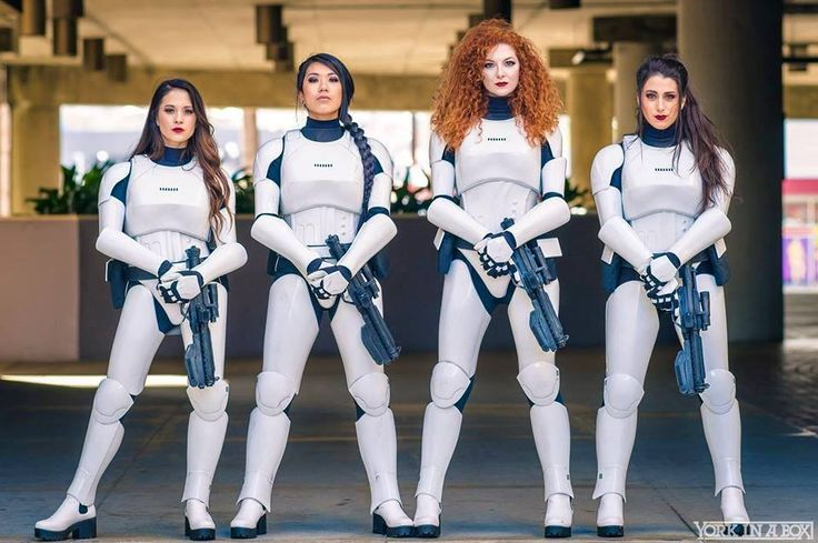 Stormtrooper  Cosplayers: Hendo Art, Rian Synnth Cosplay, Ashlynne Dae and Elizabeth Rage Costume by: KW Designs Photographer: York In A Box