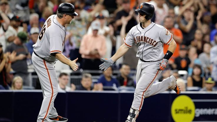 Last year, the Giants opened up the second half by playing the Padres in San Diego on the Friday after the All∗Star break. The Padres beat the Giants. Last year, the Padres scored four runs. The Gi…