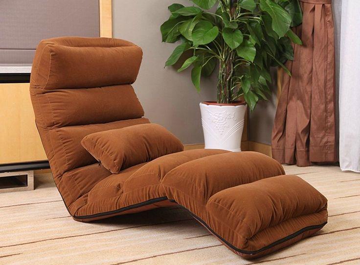 Modern Chaise Lounge Chair Convertible Brown Sleeper Sofa Bed Suede Folding Set | eBay #sleepersofa