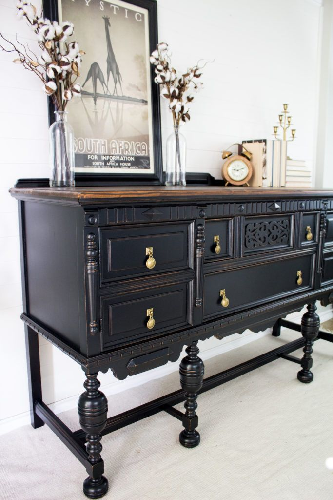 Pleasing Black Elegant Buffet Makeover Tdh Country Chic Paint In Download Free Architecture Designs Embacsunscenecom