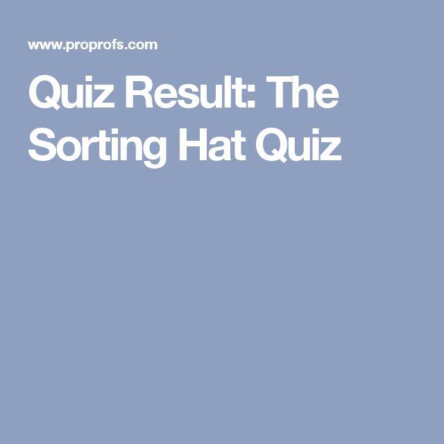 Quiz Result: The Sorting Hat Quiz