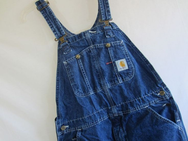 Men's CARHARTT Bib Overalls Carpenter Farmer Zipper Fly - Size 36 x 36 R07DST #Carhartt #Overalls
