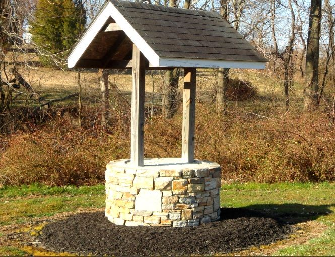 make a wish wishing well natural stone wishing well. Black Bedroom Furniture Sets. Home Design Ideas