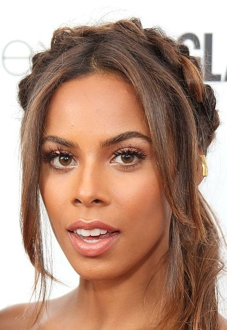 Rochelle Humes from the Saturdays at the 2015 Glamour Awards wearing Maya Magal Gold Long Ear Cuff Jewellery.