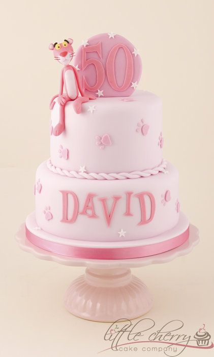 Pink Panther Cake - by littlecherry @ CakesDecor.com - cake decorating website