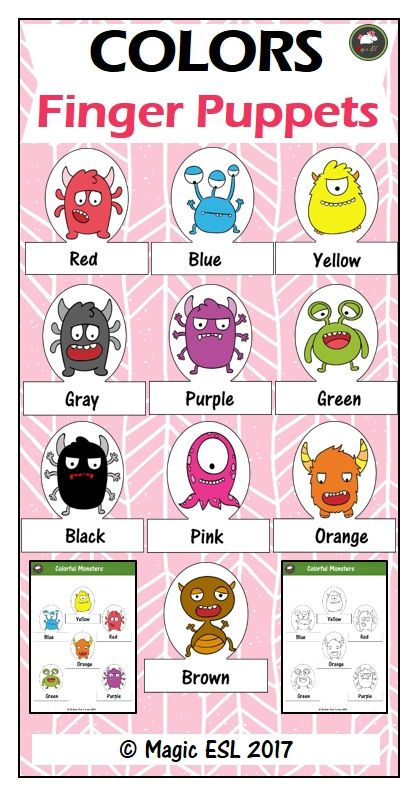 Colorful Monsters Finger Puppets