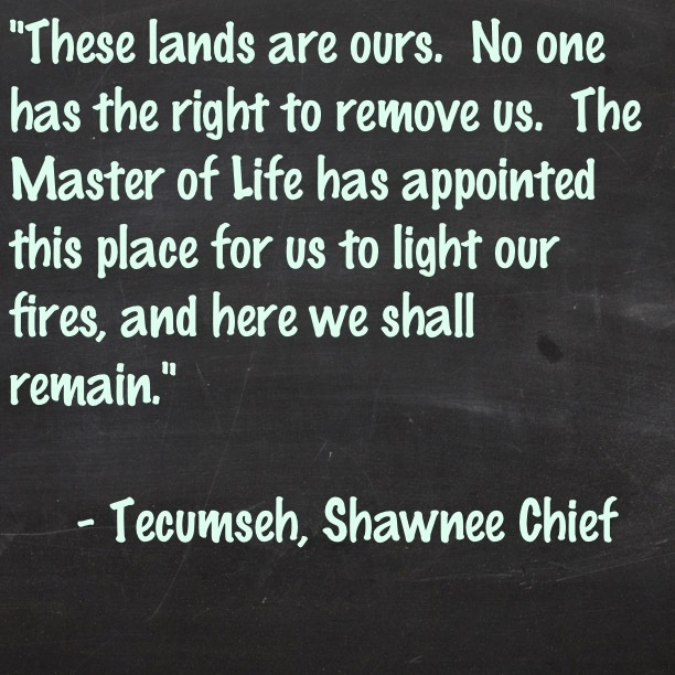 - Tecumseh, Shawnee Chief, around 1800 (created by me with the Tweegram for iPhone app)